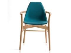 Sedia imbottita in legno con braccioliX WOOD 2 | Sedia con braccioli - ALMA DESIGN