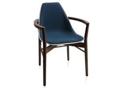 Sedia imbottita in legno con braccioli X WOOD 2 | Sedia con braccioli - X Chair