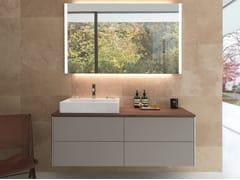 Mobile lavabo laccato singolo sospeso XSQUARE   Mobile lavabo sospeso - XSquare