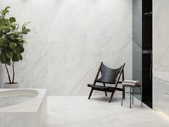 URBATEK, XTONE GLEM WHITE Pavimento/rivestimento in gres porcellanato effetto marmo