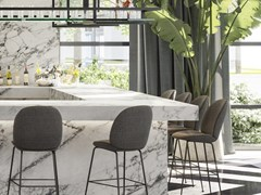 URBATEK, XTONE - NUBA WHITE Pavimento/rivestimento in gres porcellanato effetto marmo