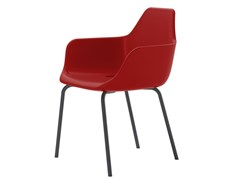 Sedia impilabile in polietilene con braccioliY FOUR - ALMA DESIGN