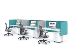 Postazione di lavoro multipla con pannelli divisori fonoassorbenti YAN_T | Postazione di lavoro - Yan