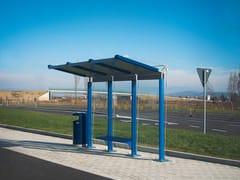 City Design, YCARO Pensilina in alluminio e vetro per fermata autobus
