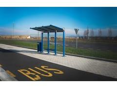 Pensilina in alluminio e vetro per fermata autobusYCARO - CITY DESIGN
