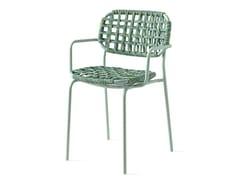 Sedia da giardino con braccioli intrecciata in polipropileneYO! | Sedia in fibra sintetica - CALLIGARIS