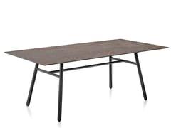 Tavolo da giardino rettangolare in ceramica e base alluminioYO! | Tavolo da giardino - CALLIGARIS