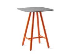 Tavolo alto da giardino in ceramica con base alluminioYO! | Tavolo alto - CALLIGARIS