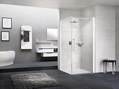NOVELLINI, YOUNG G+F Box doccia angolare con porta a battente e fisso laterale
