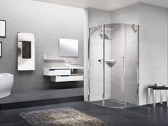 NOVELLINI, YOUNG R Box doccia semicircolare con porta a battente