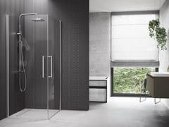 Box doccia angolare con porta a battenteYOUNG | 2G - NOVELLINI