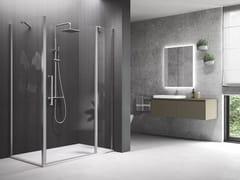 Box doccia angolare con porta a battenteYOUNG | 2P+F + YOUNG 2.0 F1B - NOVELLINI