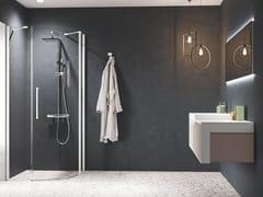 Box doccia semicircolare con porta a battenteYOUNG | R1 - NOVELLINI