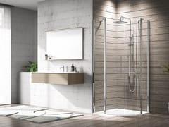 Box doccia semicircolare con porta a battenteYOUNG | R2 - NOVELLINI