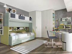 Cameretta in legno con letti a castello per ragazziZ799 | Cameretta - ZALF