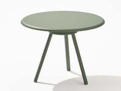 Tavolino da giardino rotondo in alluminioZEBRA | Tavolino - FAST