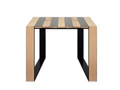 Tavolo quadrato in acciaio e legnoZEBRA | Tavolo quadrato - VELA ARREDAMENTI