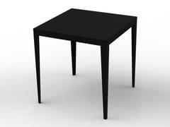 Tavolo alto quadrato in acciaio verniciato a polvere ZEF | Tavolo alto - Zef