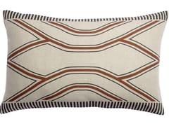 Cuscino rettangolare in lino a motivi geometriciZEFF JOHAN | Cuscino rettangolare - VIVARAISE