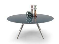 Tavolo rotondo con piano laccatoZEFIRO | Tavolo rotondo - FLEXFORM