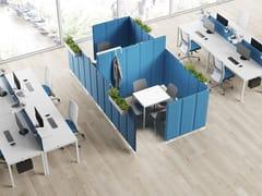 Divisorio ufficio fonoassorbente in Trevira® CSZEN PRIVACY SUITE - STEELBOX BY METALWAY