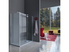 Box doccia con anta a battente e anta fissaZENITH   Box doccia rettangolare - SAMO