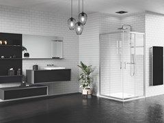 Box doccia angolare con porta scorrevoleZEPHYROS | A - NOVELLINI