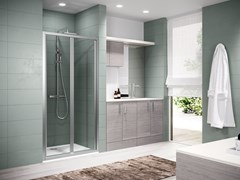 Box doccia a nicchia con porta a soffiettoZEPHYROS | S IN OUT - NOVELLINI