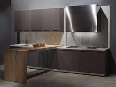 Cucina lineare in rovere tinto wengé ZERO | Cucina in rovere - Zero