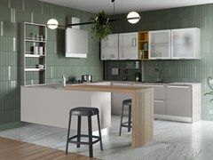 Cucina componibile con penisolaZOE | Cucina con penisola - CREO KITCHENS BY LUBE