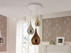 Lampada a sospensione in vetro borosilicato metallizzatoZOE | Lampada a sospensione a luce diretta - CANGINI & TUCCI