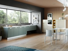 Cucina lineare con maniglie integrateZOE | Cucina - CREO KITCHENS BY LUBE