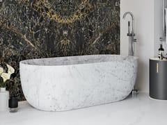 Vasca da bagno centro stanza ovale in marmo di CarraraZURICH | Vasca da bagno in marmo di Carrara - RILUXA