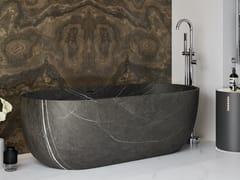Vasca da bagno centro stanza ovale in marmo Grey AraZURICH | Vasca da bagno in marmo Grey Ara - RILUXA