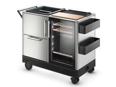 Mobile bar / carrello portavivande outdoor in acciaio DOMETIC MOBAR 550 - DOMETIC GROUP