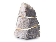 Lampada da terra per esterno a LED in pietra naturaleCROSS - ESSENZE DI LUCE