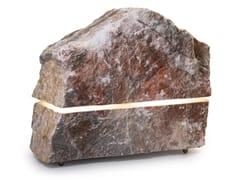 Lampada da terra per esterno / diffusore acustico in pietra naturaleSOUND PRO - ESSENZE DI LUCE