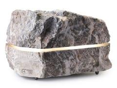 Lampada da terra per esterno / diffusore acustico in pietra naturaleSOUND - ESSENZE DI LUCE