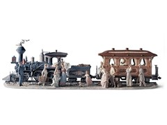 Soprammobile in porcellanaA GRAND ADVENTURE TRAIN - LLADRÓ