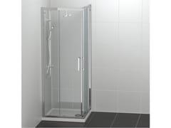 Ideal Standard, CONNECT 2 - A/L Box doccia angolare in vetro temperato con porta scorrevole