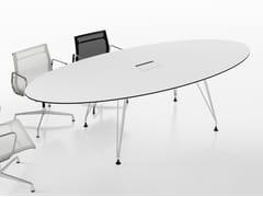Tavolo da riunione ovale in laminato con sistema passacaviA1 MEETING | Tavolo da riunione ovale - BK CONTRACT EQUIPMENT