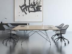 Tavolo da riunione rettangolare in laminato con sistema passacaviA1 MEETING | Tavolo da riunione rettangolare - BK CONTRACT EQUIPMENT
