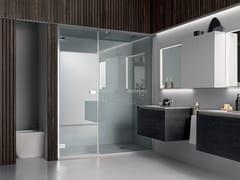 Box doccia in nicchia un'anta battente asimmetricoA180 | Box doccia a nicchia - ARBLU