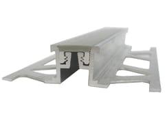 Giunto di frazionamento in metallo e PVC A2 | Giunto per pavimento -