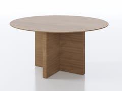 Tavolo da riunione rotondo in legno impiallacciatoA2 ROUND | Tavolo da riunione in legno impiallacciato - BK CONTRACT EQUIPMENT