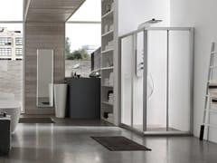 Box doccia angolare con porta scorrevole A4 - 100 X 100 | Box doccia angolare -