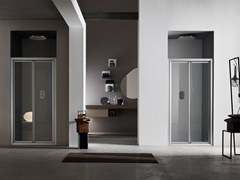 Box doccia a nicchia con porta pivotante A4 - 100 X 80 | Box doccia a nicchia -