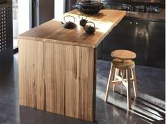 Tavolo a penisola da cucina rettangolare in legnoSP. 45 NOCE - ALTA CORTE