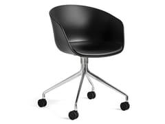 Sedia girevole in polipropilene con cuscino integratoABOUT A CHAIR AAC24 | Sedia con cuscino integrato - HAY