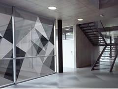Tessuto autoadesivo trasparente per la copertura di finestreABSTRACT 01 - ACTE DECO